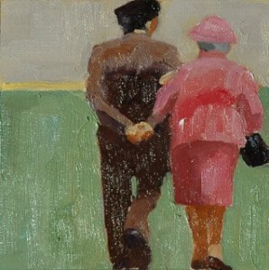 """Old Couple"" Painting by Joan Breckwoldt From joanbreckwoldt.blogspot.com"