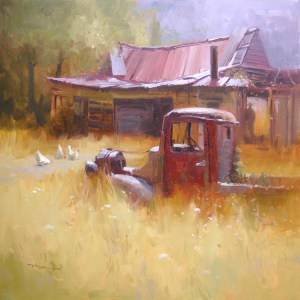 """The Golden Years"" Painting by Richard Robinson From livepaintinglessons.com"
