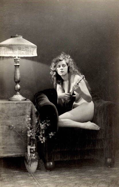 """Albert Arthur Allen's """"Nude with Ukelele"""""""